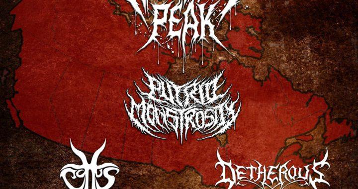 Widow's Peak + Detherous + Putrid Monstrosity + Cottus in Halifax NS